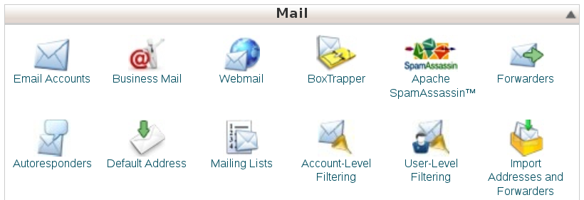 Business Mail icon in user cPanel